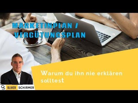 Marketingplan - Vergütungsplan - warum du ihn nie erklären solltest