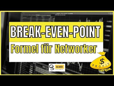 Break Even Point einfach erklärt - Break Even Point Formel im Network Marketing