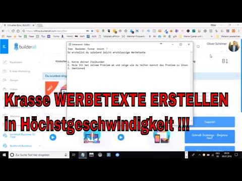 Werbetexte: Erstklassige Werbetexte erstellen mit dem builderall Skriptgenerator