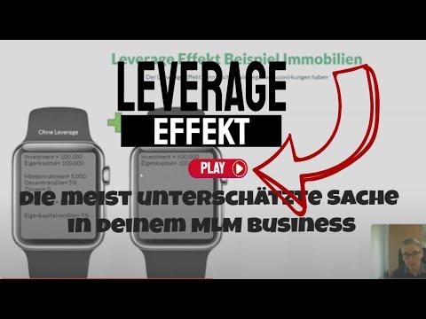 Leverage Effekt - die meist unterschätzte Sache in deinem MLM Business