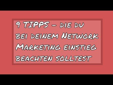 9 Tipps für deinen Network Marketing einstieg