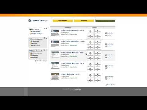 Fertiges System mit Inhalten für unsere Kunden