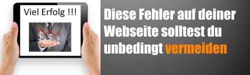Diese Fehler auf deiner Webseite solltest du unbedingt vermeiden