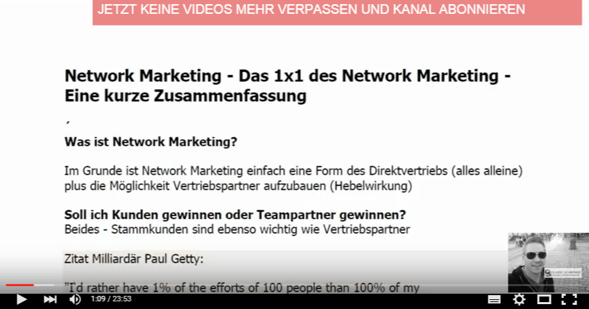 Network Marketing – Das 1×1 des Network Marketing –  Eine kurze Zusammenfassung