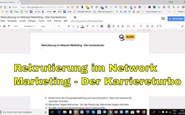 Rekrutierung im Network Marketing