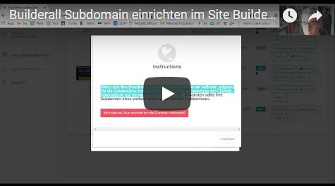 Builderall Subdomain einrichten im Site Builder