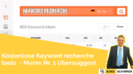 keyword recherche tools