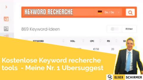 Keyword recherche tools  – kostenlos meine Nr. 1 Ubersuggest