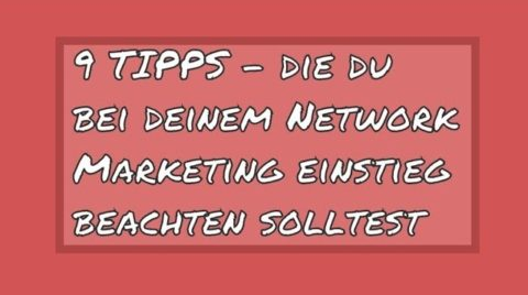 network marketing einstieg
