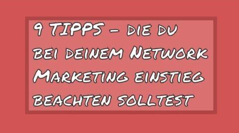 network marketing einstieg