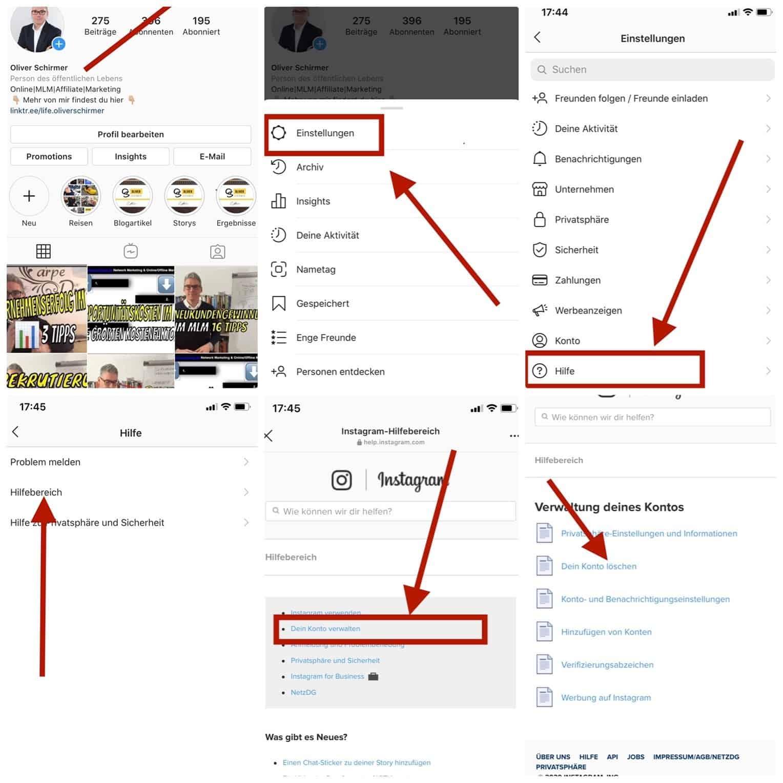 Instagram account deaktivieren